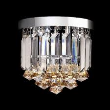 gorgeous amber crystal droplets small flush mount foyer lights beautifulhalo com
