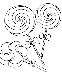 candy coloring page. Perfect Page Three Lollipop Candy Coloring Page For O