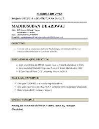 Current Resume Format 2017 From 19 Cv Format For Teacher Job Free