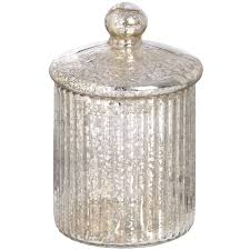 round silver glass decorative box from baytree interiors