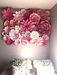 Paper Flower Designs Paper Flower Backdrop Design Your Own By Abbieluhandmade On