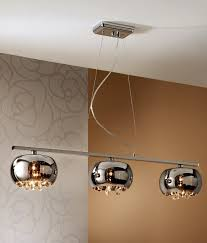triple smoked glass crystal bar light flush ceiling pendant lights also available