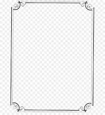 vintage black frame png. Plain Black Pattern  Vintage Border Frame PNG File With Black Png O