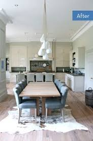 an outdated fl living room gets transformed into a modern kitchen and dining room incredible