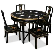 oriental dining room furniture. Great Dining Room Decoration With Black Lacquer Table : Fascinating Using Round Oriental Furniture