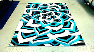 turquoise area rug gray and rugs amazing brown 4x6