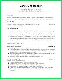 Example Of A Nursing Resume Simple Resume Objective Nursing Nurse Objective Resume Nursing Resume