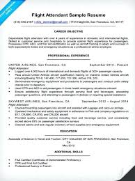 airline resume format flight attendant resume objective career examples of resumes in