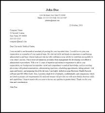 Medical Application Letter Sample Professional Medical Assistant Cover Letter Sample Writing Guide