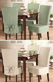 sure fit cotton dining chair slip covers these look nice and would be a nice cover to all that my kids have dropped spilled on my chairs lol