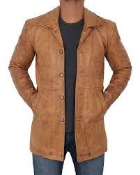 Light Brown Leather Jacket Mens Natural Distressed Mens Light Brown Leather Jacket Coat