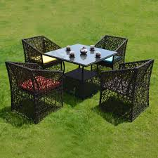 outdoor dining sets beautiful sets wicker outdoor dining sets rattanbord og 4 stoler for