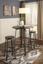tall round dining room sets. Challiman Round Dining Room Bar Table \u0026 2 Tall Stools Sets O