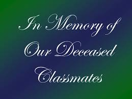 Ppt In Memory Of Our Deceased Classmates Powerpoint Presentation