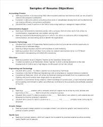 Resume Sample For Accountant Position Sample Resume Objective For Accounting Position Objective For