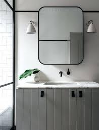silver framed bathroom mirrors. Metal Vanity Mirror Framed Mirrors Bathroom Home Ideas White Silver Wall
