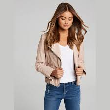 just jeans just jeans sofia panelled leather jacket