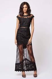 Black Lace Maxi Dress Topshop