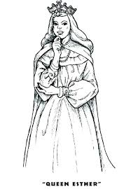 Queen Esther Coloring Page Fashionadvisorinfo