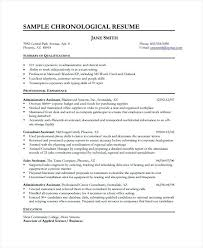 Sales Consultant Sample Resume Chronological Resume Template ...