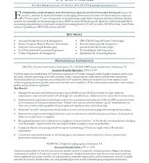 Accounts Payable Specialist Sample Resume Account Job Description Best Accounts Payable Job Description Resume