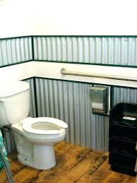 corrugated metal bathroom wall wainscoting installing glamorous tin walls in corr corrugated metal