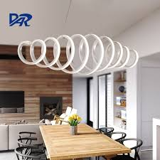 Creative White Acrylic Spring Pendant Lamp Dining Room Modern Led Mesmerizing Lamp For Dining Room