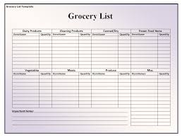 grocery list template printable simple blank grocery list template example shopping form walmart