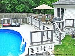 simple pool deck plans pool deck design ideas com com simple above ground pool deck design