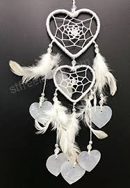 12 Inch Dream Catcher Cool PEPPERLONELY Dream Catcher Heart Shape White Feathers 32x332 Inch
