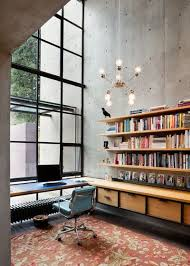 industrial style office. industrial home office by rho architects style r