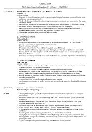 Sample Qa Engineer Resume QA Engineer Senior Resume Samples Velvet Jobs 8