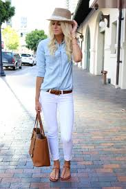 What to Wear With White Jeans: 20 Perfect Outfits | Brown sandals ...