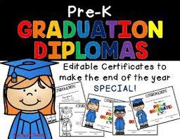 Prek Diploma Editable Pre K Diploma By Red Apple Teacher Teachers Pay Teachers