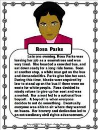 rosa parks short biography example rosa parks mini biography