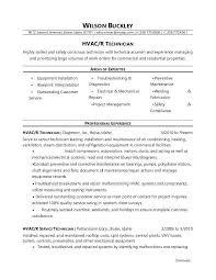 Resume Job Objective Inspiration Sample Resume For An Technician Hvac Tech Job Objective Mmventuresco