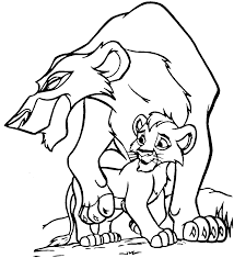 Coloring Pages Disney Lion Kinglllll