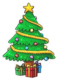 Room Decor:Christmas Tree Cartoon How to Decorate Christmas Tree