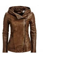 arrow women brown leather jacket women distressed jackets