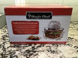 magic chef 3 gallon glass bowl kitchen cook countertop electric convection oven