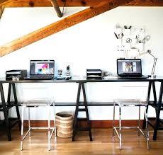 long desks for home office. Long Desk For Home Office View In Gallery Dark Wooden Trestle Table A Modern Desks N