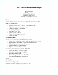 tow truck driver resume example sample resumes driver resume truck