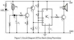 tone door bell electronics project fire alarm using thermistor