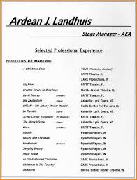 Performing Arts Resume Template Sample Resume Cover Letter Format