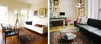 a winning trifecta leather mid century modern and oriental rugs