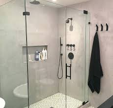 skim coat concrete wall a shower with faux concrete walls skim coat interior concrete wall