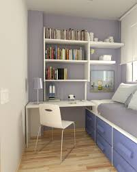 Small Bedroom Chair Home Design Creative White Wall Unit Over Trendy Computer Desk