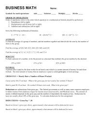 business math business math assignment