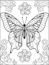 world of erflies coloring page