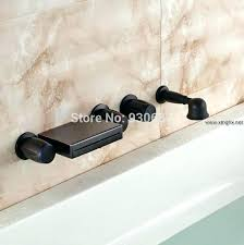 waterfall bathtub faucet retro oil rubbed bronze wall mounted with hand shower mount widespread bat